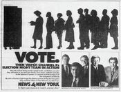 WNBC News 4 New York & NBC News - Decision '84, Election Night Coverage - Election Night promo for November 6, 1984