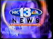 WVTM NBC 13 News open - 1998