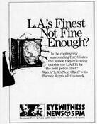 KABC Channel 7 Eyewitness News 5PM - L.A.'s Next Chief - This Week promo for the week of October 15, 1984