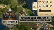 "Anno1800 - Advanced Guide Gameplay 1 ""Production Chains & Automatic Sale"""