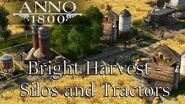 Anno 1800 ADDING SILOS AND TRACTORS TO YOUR FARMS! Season 2 Bright Harvest DLC