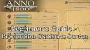 ANNO 1800 GUIDE - PRODUCTION STATISTICS SCREEN