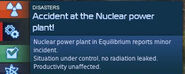 Nuclear Powerplant minor accidnet.
