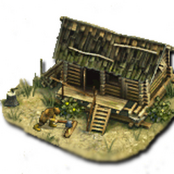 Lumberjack's hut
