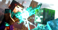 Drowned Clashes against Warrior Herobrine