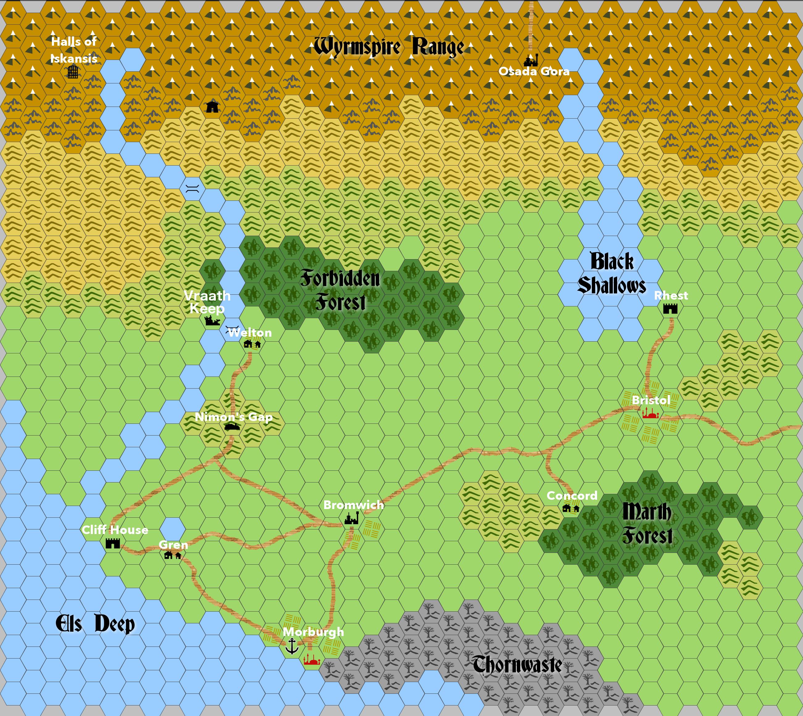 Map of Arauglor