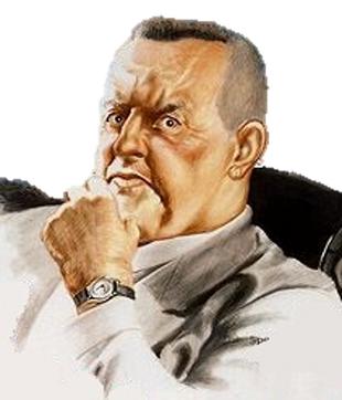 Blofeld-Illustration von George Almond