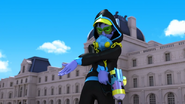 Timetagger missed Ladybug and Cat Noir's attacks