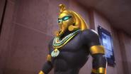 The Pharaoh appears