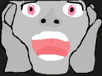 Серое лицо без глаз