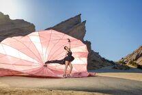 Kyla Coleman Paper parachute shoot