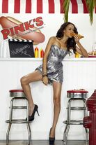 Isis King for Pink's Hot Dogsy