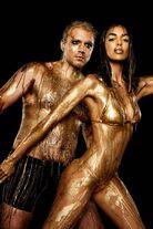 Sandra Shehab Dripping in gold