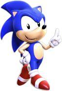 Sonic aosth render 3d