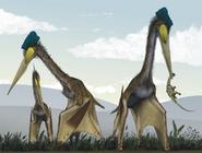 220px-Life restoration of a group of giant azhdarchids, Quetzalcoatlus northropi, foraging on a Cretaceous fern prairie
