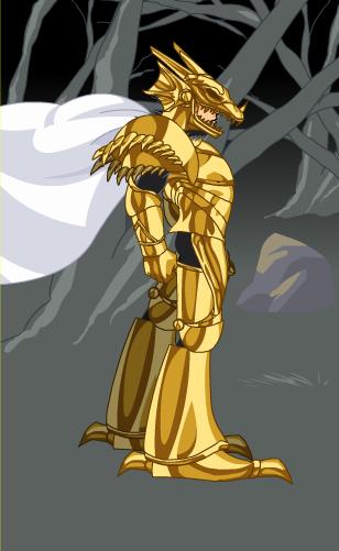 golden dragon slayer armor adventure quest