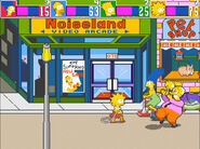 """Noiseland as it appears in """"The Simpsons"""" arcade game (1991)"""