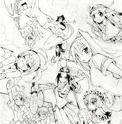 Arcana Heart Manga Promo Background