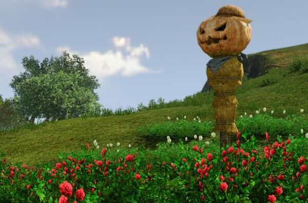 This is what a Large Scarecrow Design looks like when placed