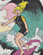 Betty surfing