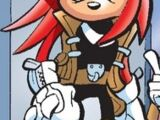 Knuckles the Echidna (Light Mobius)