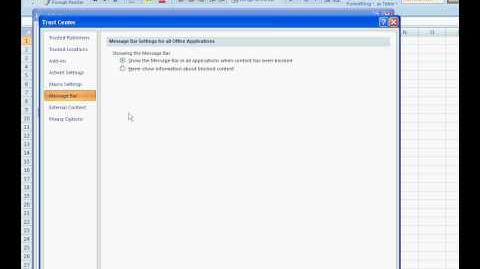 How to Enable Macros in Excel 2007