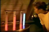 Dani seeing a draining machine