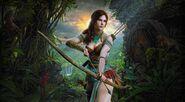 Artwork bow archer fantasy girl fantasy art Lara Croft-1734265.jpg!d