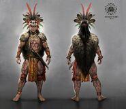 Fantasy dayak tribe warrior by admirawijaya d8e3n7z-fullview