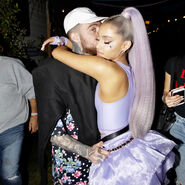 Ariana at Coachella 2018 backstage with Mac Miller