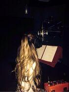 Ariana in the studio 2014