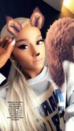 Ariana Grande at March For Our Lives in Washington DC backstage (2)