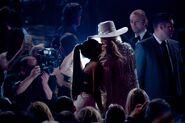 Ariana and Gaga - Audience at 2016 AMAs 1