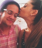 Ariana kissing Tyler Ford on the cheek