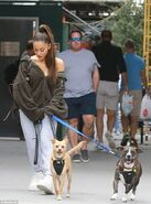 Ariana Grande with Toulouse and Myron in New York September 23 (2)