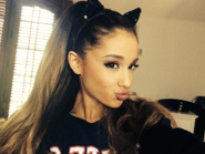 Ariana with her cat ears!
