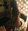 Ariana recording in the studio - 2013