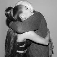 Ariana with Bernie Sanders (2)
