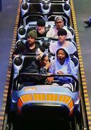 Ariana at Disneyland with friends in Anaheim, California April 8 2018 (8)