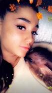 Sleeping Piggy Smallz and Ariana Grande