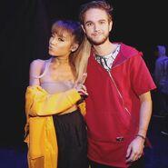 Ariana Grande and Zedd at the 2016 iHeart Festival