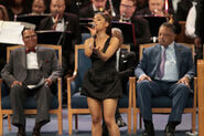 Soul Music Icon Aretha Franklin Honored During Her Funeral By Musicians And Dignitaries(6)