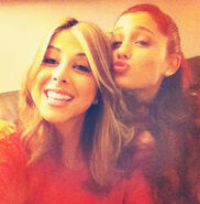Ariana With Her Co-Star From Victorious Daniella Monet