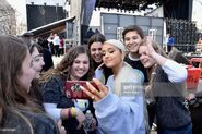 Ariana Grande at March For Our Lives in Washington DC with fans (1)