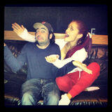 Ariana with Matt on a couch