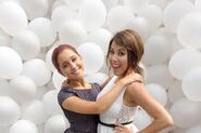 Daniella and Ari at iParty with Victorious Premiere