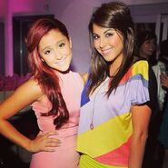 Ariana and Daniella Monet at Miranda Cosgrove's birthday