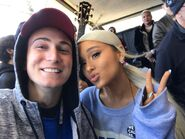 Ariana Grande at March For Our Lives in Washington DC with fans (4)