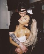 Ariana with her boyfriend Pete
