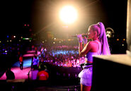 Ariana at Coachella 2018 performing No Tears Left To Cry (3)